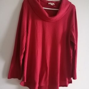 Style&co plus size waffle knit thermal top size 2x